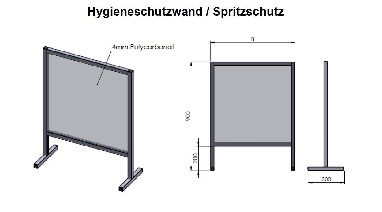 Hygieneschutzwand-Spritzschutz.